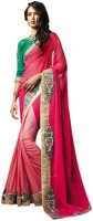 Vishal Printed Fashion Chiffon Saree(Pink)