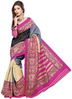 Khoobee Printed Fashion Poly Silk Saree(Multicolor)