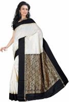 Roopkala Silks Woven Banarasi Banarasi Silk Saree(White)