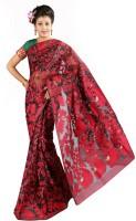 Hawai Printed Fashion Handloom Cotton Saree(Red)