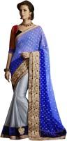 Ewows Self Design Fashion Jacquard Saree(Multicolor)