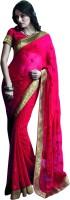 Valeska Printed Fashion Chiffon Saree(Red)