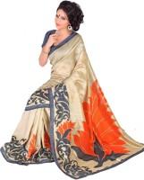 Gugaliya Embellished, Floral Print Fashion Art Silk Saree(Multicolor)