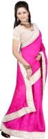 Ansu Fashion Self Design Fashion Georgette Saree(Pink)