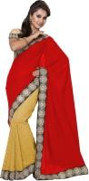 Ishin Embellished Fashion Modal Saree(Red)
