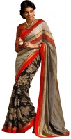 Nairiti Fashions Printed Fashion Linen Saree(Multicolor)