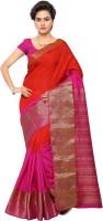 Makeway Solid Chanderi Chanderi Saree(Pink)