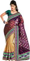 Chirag Sarees Self Design Fashion Crepe Saree(Multicolor)