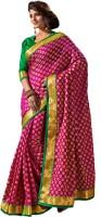 M.S.Retail Self Design Fashion Handloom Raw Silk Saree(Pink)