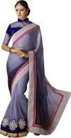 Ewows Self Design Fashion Crepe, Jacquard Saree(Light Blue)
