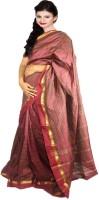 Javuli Woven Madurai Handloom Silk Cotton Blend Saree(Maroon)