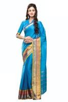 Sunaina Plain Chettinadu Cotton Saree(Multicolor)