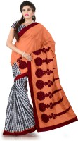Weavedeal Embellished, Embroidered Bollywood Cotton, Chanderi Saree(Orange)