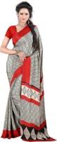 Jiya Self Design, Printed Fashion Cotton Blend, Poly Crepe Saree(Multicolor, Red)