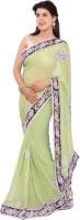 Shri Narayan Fashions Embellished Fashion Handloom Viscose Saree(Green)