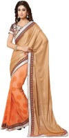 Shaily Embroidered Fashion Art Silk Saree(Multicolor)