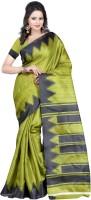Indrani Printed Bollywood Silk Saree(Green, Black)