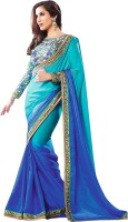Nairiti Fashions Self Design Fashion Satin, Georgette Saree(Multicolor)