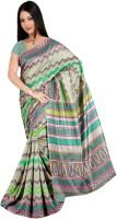 Khoobee Geometric Print Fashion Tussar Silk Saree(Multicolor)