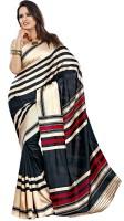 Gugaliya Striped Fashion Art Silk Saree(Multicolor)