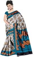 Patankar Fab Printed Bhagalpuri Silk Saree(Multicolor)