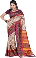 Majestic Silk Printed Bhagalpuri Art Silk Saree(Multicolor)