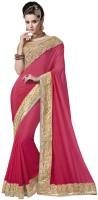 Desi Butik Embellished Fashion Chiffon Saree(Pink)