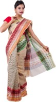 Fab Rajasthan Printed Kota Doria Handloom Cotton Saree(Multicolor)