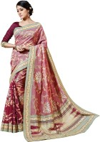 Bhavi Printed Fashion Art Silk Saree(Pink)