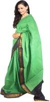 Javuli Woven Madurai Handloom Cotton Saree(Green)