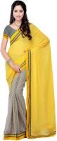 Suvastram Printed Fashion Chiffon Saree(Multicolor)