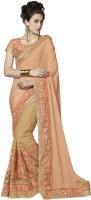 Indian Women By Bahubali Embellished Fashion Chiffon Saree(Multicolor)