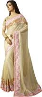 Chirag Sarees Embellished Bollywood Georgette Saree(Beige)