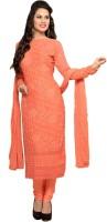 Shreeji Fashion Chiffon Self Design Semi-stitched Salwar Suit Dupatta Material