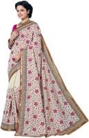M.S.Retail Self Design Fashion Handloom Jute Saree(White)