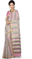 Devi Handlooms Woven Mangalagiri Handloom Cotton Blend Saree(Multicolor)