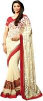 Vishal Printed Fashion Brasso Saree(Beige)
