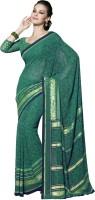Suvastram Printed Fashion Georgette Saree(Green)