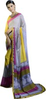 Magnum Opus Store Printed, Self Design Daily Wear Poly Georgette Saree(Multicolor, Yellow)