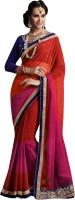 We Desi Self Design Fashion Chiffon Saree(Multicolor)