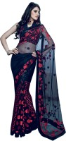 Valeska Printed Fashion Cotton Blend Saree(Black)