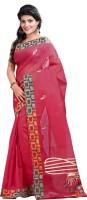 Lookslady Embroidered Fashion Cotton Saree(Maroon)