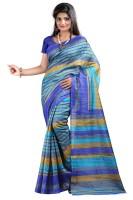 Indrani Printed Bollywood Silk Saree(Green)
