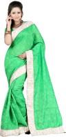 Ansu Fashion Self Design Fashion Georgette Saree(Green)