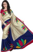 Gugaliya Printed Fashion Art Silk Saree(Multicolor)