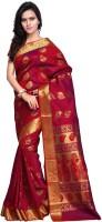Sonal Trendz Self Design Kanjivaram Art Silk Saree(Red)
