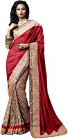 Vishal Solid Fashion Net Saree(Maroon)