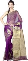 Chandrakala Embellished Banarasi Art Silk Saree(Purple)