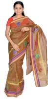 Jagadamba Self Design Banarasi Silk Saree(Green)