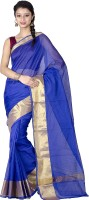 Chandrakala Woven Banarasi Banarasi Silk Saree(Blue)